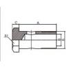 扣压式软管接头 700M-10,700M-12,700M-14,700M-16,700M-18,700M-22,700M-26,700M-30,