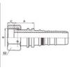 扣压式软管接头 24213-12-12W,24213-16-16W,24213-20-20W,24213-24-24W