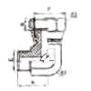 平面密封接头 2E9-12,2E9-14,2E9-16,2E9-18,2E9-22,2E9-27,2E9-30,2E9-42,2E9-45,2E9-52