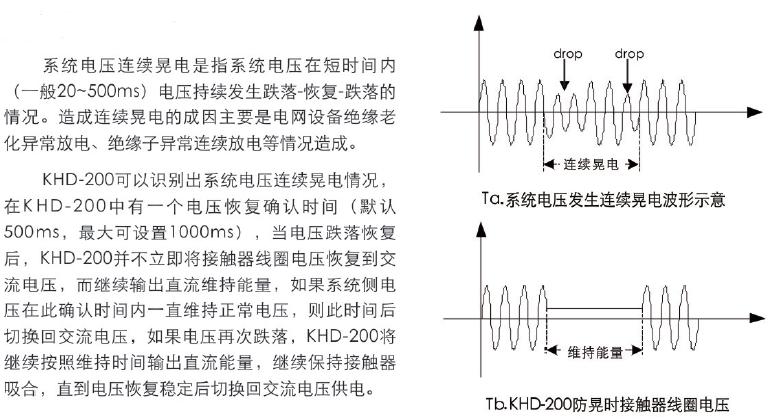 KHD-200系列防晃电产品